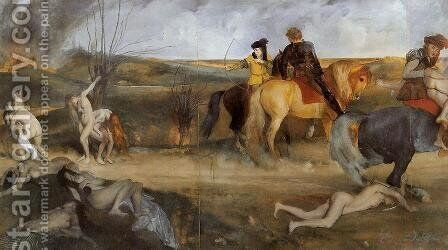 Scene of War in the Middle Ages, 1865 by Edgar Degas - Reproduction Oil Painting