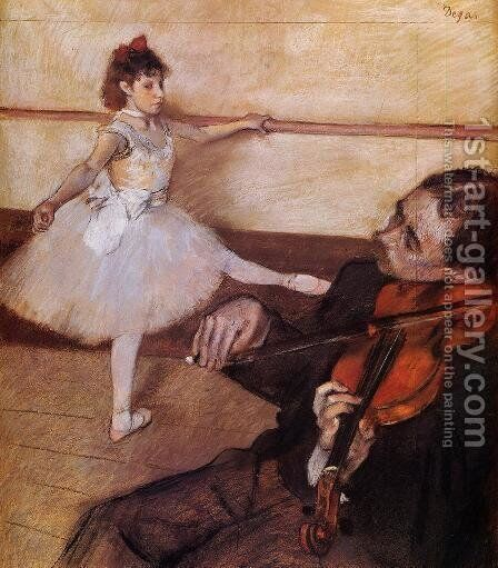 The Dance Lesson, c.1879 by Edgar Degas - Reproduction Oil Painting