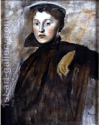 Study for a Portrait of a Lady, 1867 by Edgar Degas - Reproduction Oil Painting