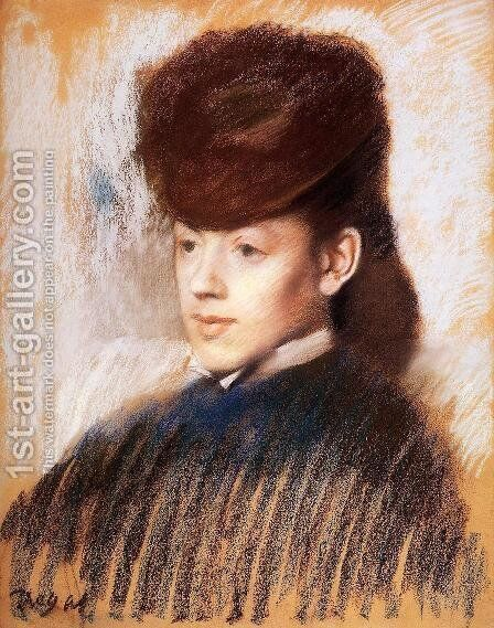Mademoiselle Malo, c.1875 by Edgar Degas - Reproduction Oil Painting