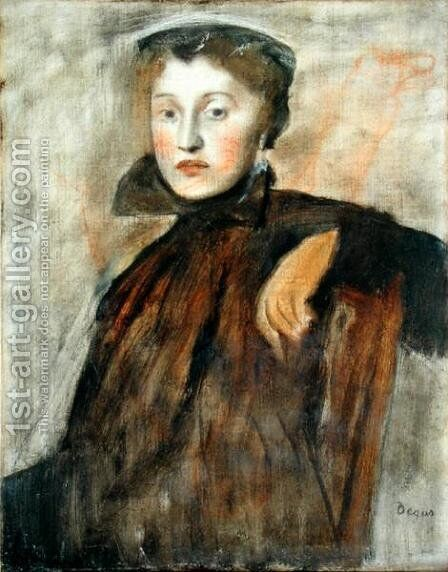Portrait of a Lady (study) 1867 by Edgar Degas - Reproduction Oil Painting