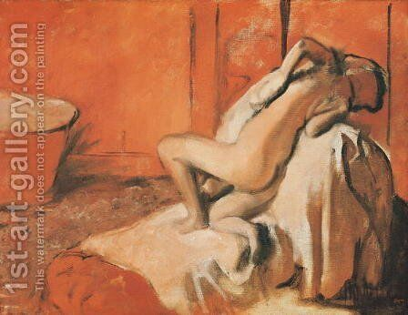 After the Bath, c.1896 by Edgar Degas - Reproduction Oil Painting