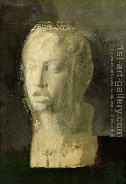 Study of the Head of a Young Singer, after Della Robbia, c.1856-58 by Edgar Degas - Reproduction Oil Painting
