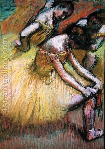 Group of Three Dancers by Edgar Degas - Reproduction Oil Painting