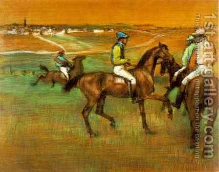 Race Horses by Edgar Degas - Reproduction Oil Painting