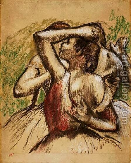 Two Ballet Dancers by Edgar Degas - Reproduction Oil Painting