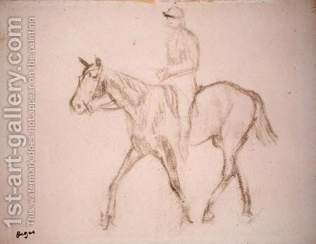 Horse and Jockey by Edgar Degas - Reproduction Oil Painting