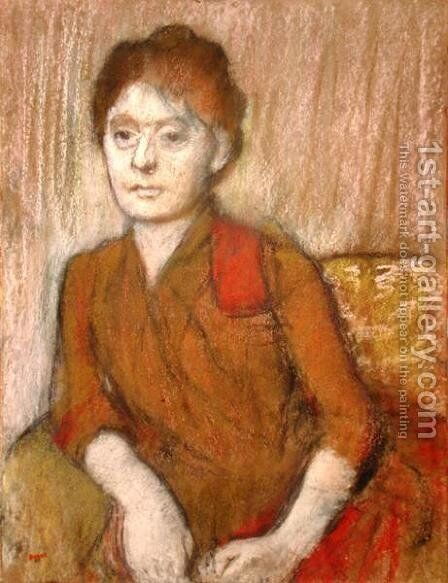The Brown Dress by Edgar Degas - Reproduction Oil Painting