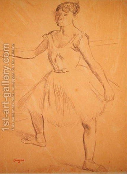 Ballerina Standing at a Bar by Edgar Degas - Reproduction Oil Painting