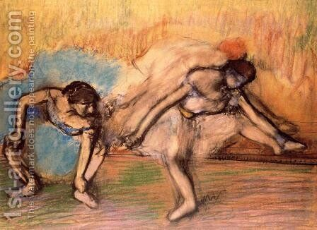 Two Dancers Resting, 1896 by Edgar Degas - Reproduction Oil Painting