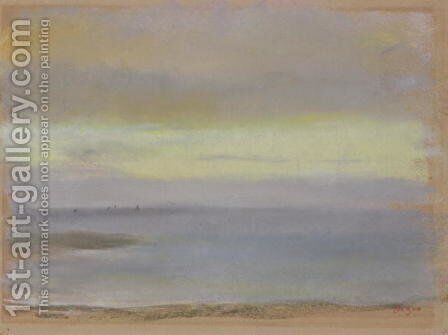Marine sunset, c.1869 by Edgar Degas - Reproduction Oil Painting