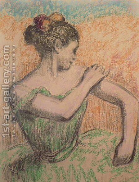 Dancer, 1882-95 by Edgar Degas - Reproduction Oil Painting