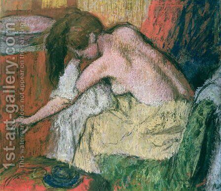 Woman drying herself, 1888-89 by Edgar Degas - Reproduction Oil Painting