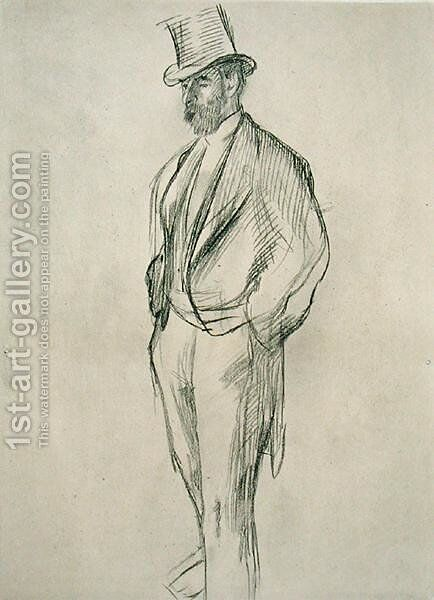 Portrait of Ludovic Halevy (1834-1908), from 'La Famille Cardinal' by Ludovic Halevy, c.1880s, published 1938 by Edgar Degas - Reproduction Oil Painting