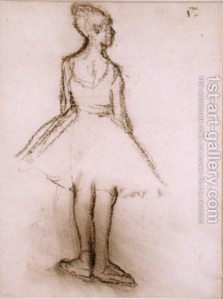 Ballerina viewed from the back by Edgar Degas - Reproduction Oil Painting