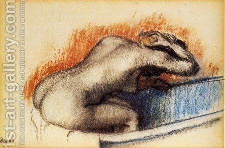 Woman Washing in the Bath, c.1892 by Edgar Degas - Reproduction Oil Painting