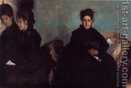 The Duchess de Montejasi and her daughters Elena and Camilla, 1876 by Edgar Degas - Reproduction Oil Painting