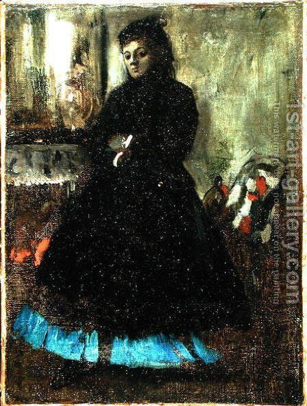 Portrait of Madame Ducros, 1858 by Edgar Degas - Reproduction Oil Painting