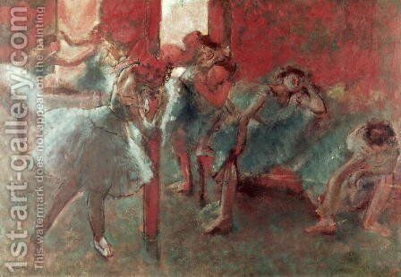 Dancers at Rehearsal, 1895-98 by Edgar Degas - Reproduction Oil Painting