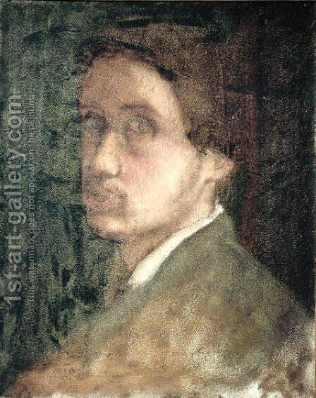 Self Portrait, c.1852 by Edgar Degas - Reproduction Oil Painting