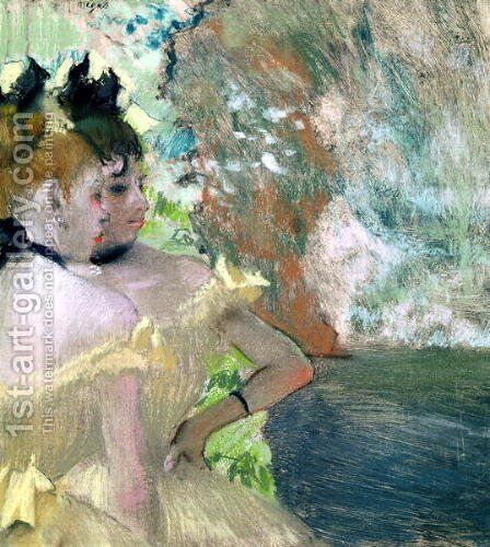 Dancers in the Wings by Edgar Degas - Reproduction Oil Painting
