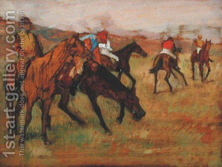Before the Races, c.1882 by Edgar Degas - Reproduction Oil Painting