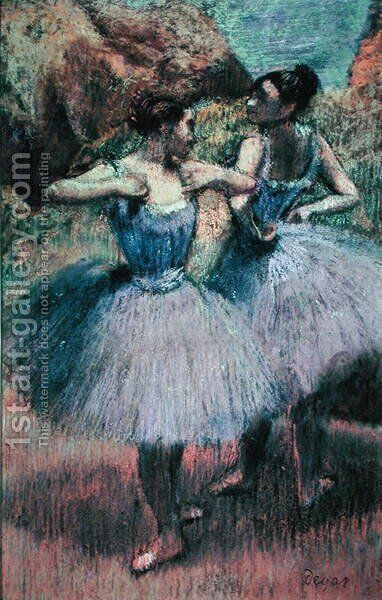 Dancers in Violet by Edgar Degas - Reproduction Oil Painting