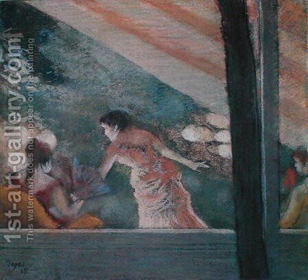 Cafe Concert at the Ambassadeurs, 1885 by Edgar Degas - Reproduction Oil Painting