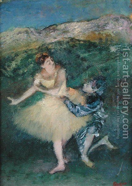 Harlequin and Colombine, c.1886-90 by Edgar Degas - Reproduction Oil Painting