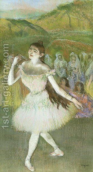 Pink Dancer by Edgar Degas - Reproduction Oil Painting