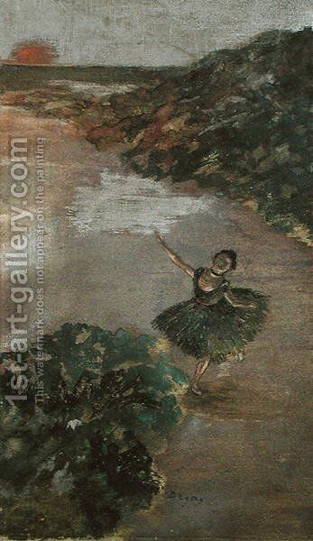 Dancer on a Stage, c.1879 by Edgar Degas - Reproduction Oil Painting