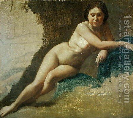 Nude Study, c.1858-60 by Edgar Degas - Reproduction Oil Painting