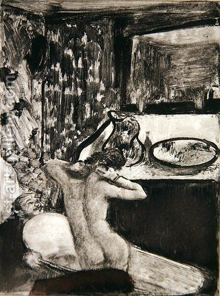 Illustration from 'La Maison Tellier' by Guy de Maupassant (1850-93), 1933 by Edgar Degas - Reproduction Oil Painting