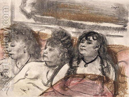 Illustration from 'La Maison Tellier' , 1933 by Edgar Degas - Reproduction Oil Painting