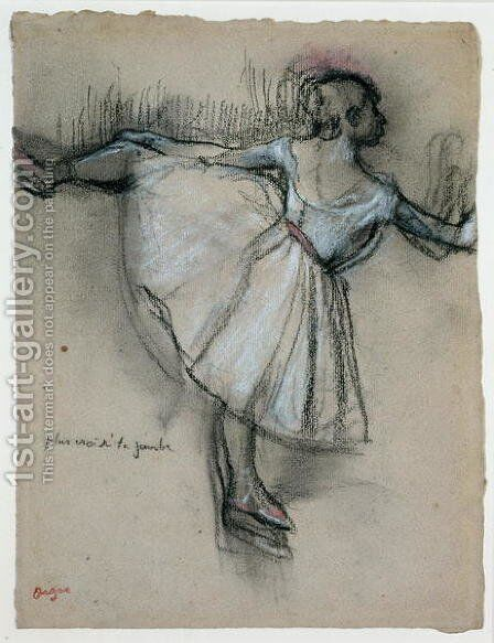 Dancer at the Bar, c.1885 by Edgar Degas - Reproduction Oil Painting