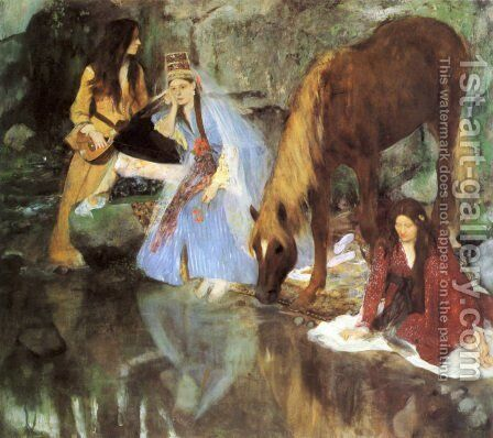 Mademoiselle Fiocre in the ballet 'La Source' by Edgar Degas - Reproduction Oil Painting