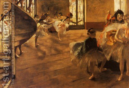 The Rehearsal, c.1877 by Edgar Degas - Reproduction Oil Painting