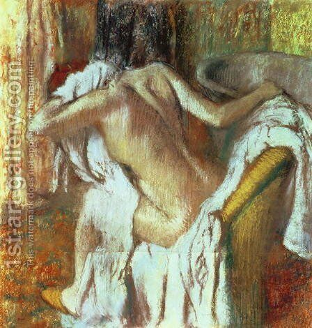 Woman drying herself, c.1888-92 by Edgar Degas - Reproduction Oil Painting