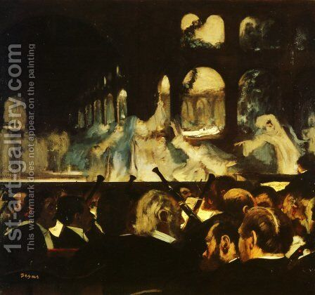 The ballet scene from Meyerbeer's opera 'Robert le Diable', 1876 by Edgar Degas - Reproduction Oil Painting