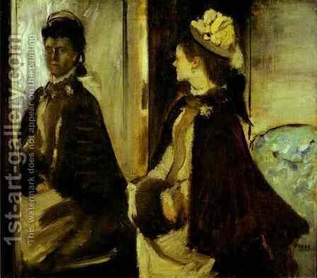 Madame Jeantaud in the mirror, c.1875 by Edgar Degas - Reproduction Oil Painting