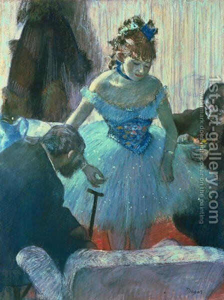 Dancer in her dressing room by Edgar Degas - Reproduction Oil Painting