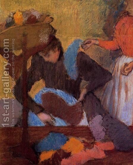 At the Milliner's, c.1898 by Edgar Degas - Reproduction Oil Painting