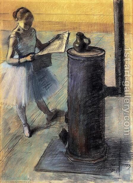 Dancer resting by Edgar Degas - Reproduction Oil Painting