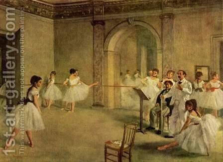 The Dance Foyer at the Opera on the rue Le Peletier, 1872 by Edgar Degas - Reproduction Oil Painting