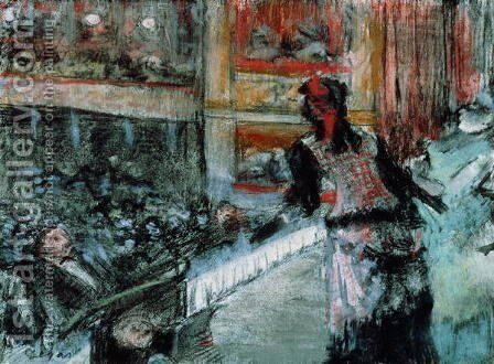 Theatre scene by Edgar Degas - Reproduction Oil Painting