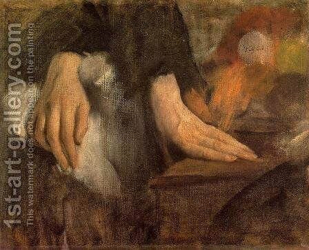 Study of Hands, 1859-60 by Edgar Degas - Reproduction Oil Painting
