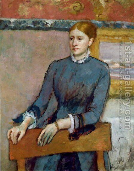Portrait of Helene Rouart in her Father's Study, detail of Helene, c.1886 by Edgar Degas - Reproduction Oil Painting