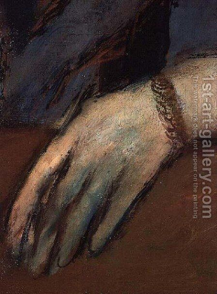 Portrait of Helene Rouart (detail) by Edgar Degas - Reproduction Oil Painting