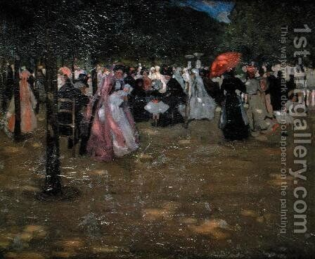Luxembourg Gardens, 1901 by Frederick Carl Frieseke - Reproduction Oil Painting