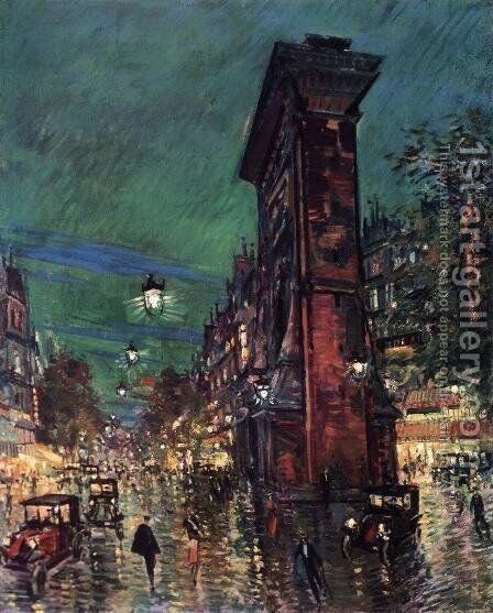 Paris, Saint Denis Arc, 1930 by Konstantin Alexeievitch Korovin - Reproduction Oil Painting